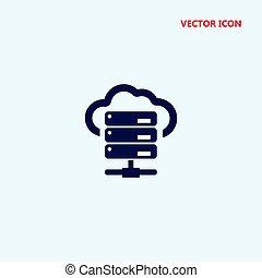 hosting vector icon