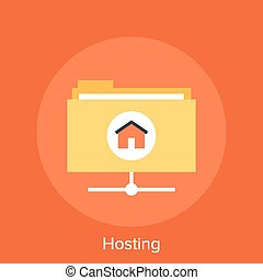 Hosting - Vector illustration of hosting flat design...