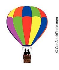 Hot Air Balloon - A typical multi coloured hot air balloon...