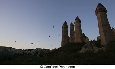 air balloons tour in Cappadocia, Turkey