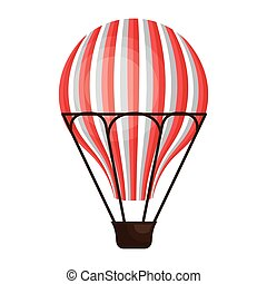 Hot air balloon cartoon design icon.