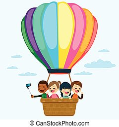 Hot Air Balloon Children