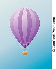 Hot air balloon - Colorful illustration of hot air balloon...