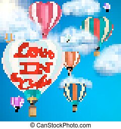 Hot air balloon. EPS 10