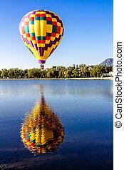 Hot Air Balloon Festival - Multi-colored hot air balloon...
