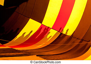 Hot Air Balloon Festival - View of inside of multi-colored...