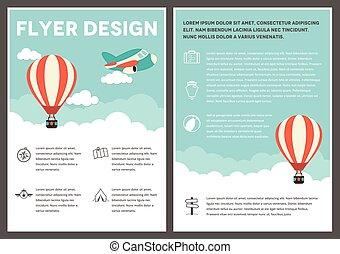 Hot Air Balloon Flyer Template Design