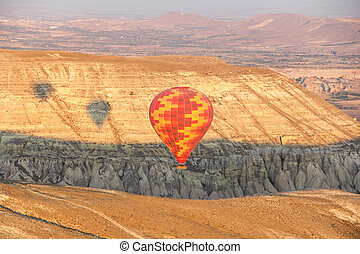 Hot Air Balloon Flying Over Cappado