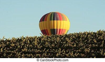 Hot Air Balloon  - Hot Air gradually sinking