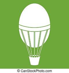 Hot air balloon icon green