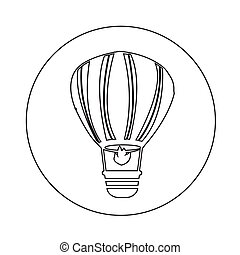 Hot air balloon icon illustration design
