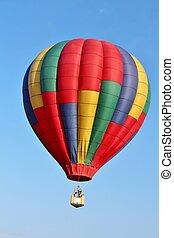 Hot air balloon in a blue sky