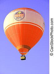 Hot-air balloon in a blue sky