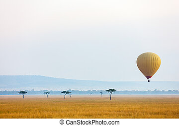 Hot air balloon in Africa