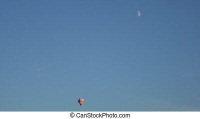Hot air balloon in the sky.