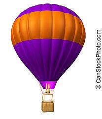 hot air balloon isolated - hot air balloon isolated on a...