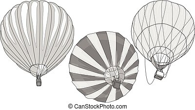 Hot Air Balloon / montgolfier vector isolated