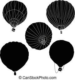 Hot Air Balloon / montgolfier vector