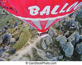 Hot Air Balloon Over Cappadocia