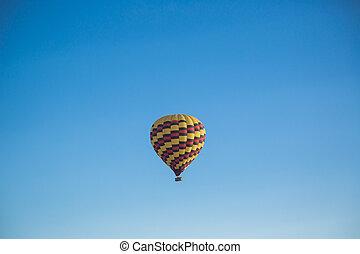 hot air balloon over sky