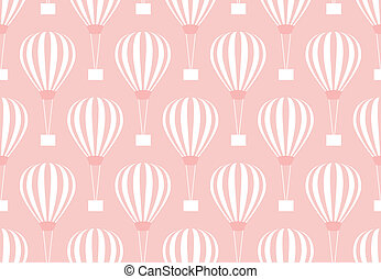 Hot air balloon - Retro seamless travel pattern of balloons