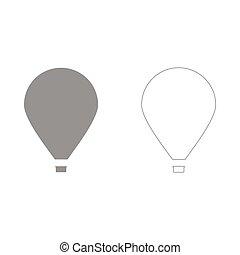 Hot air balloon  set  icon .