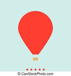 Hot air balloon  set  it is color icon .