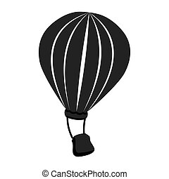 Hot air balloon theme design icon, vector illustration.