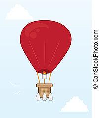 Hot Air Balloon  - Hot air balloon flying in the sky