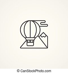 hot air balloon vector icon sign symbol