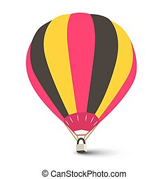 Hot Air Balloon Vector Isolated on White Background