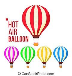 Hot Air Balloon Vector. Sky Travel Icon. Flight Transport. Retro Old Vintage Aerostat. Isolated Flat Cartoon Illustration