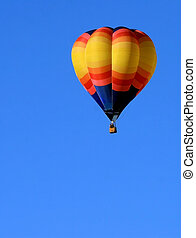 Hot Air Balloon With Copy Space - Colorful hot air balloon ...