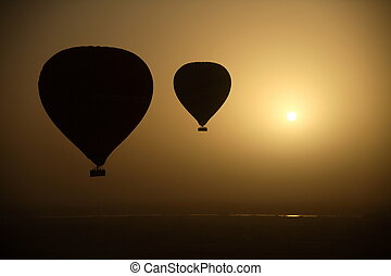 Hot Air Balloons At Eye Level