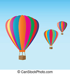 Hot air balloons at the festival - Colorful hot air balloons...