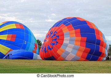 Hot air balloons - Colorful hot air balloons at the Atlantic...