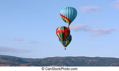 Hot air balloons - Colorful hot air balloons in the sky