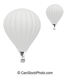 Hot Air Balloons. isolated on white background