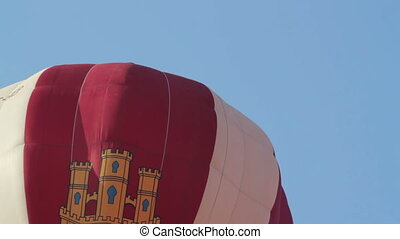 hot air balloons take part in the european balloon festival, 2011, in igualada, spain