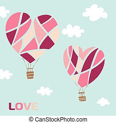Hot air baloon heart