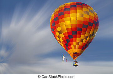 Hot air baloon on the sky
