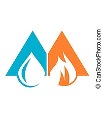 Hot and cool Logo