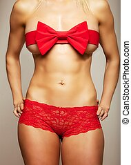 Hot and Naughty Surprise for Valentines - Seductive woman...