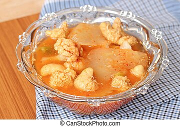Hot and Spicy Curry of Water orange with fish