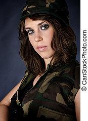 hot army girl