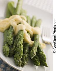 Hot Asparagus Hollandaise