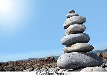 hot balanced stones