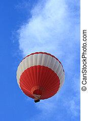 Hot ballon against blue sky