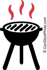 Hot BBQ symbol