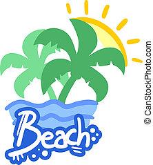 Hot beach